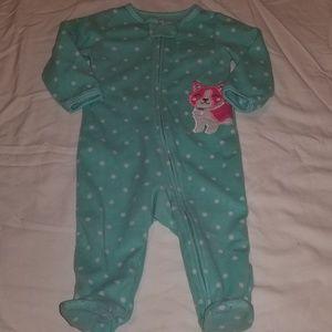 ❤ 9mo fleece footie pajamas
